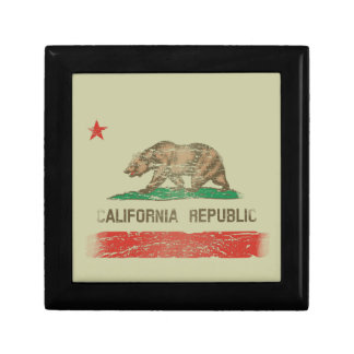 Distressed California Republic Flag Gift Box
