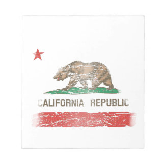 Distressed California Republic Flag Notepad
