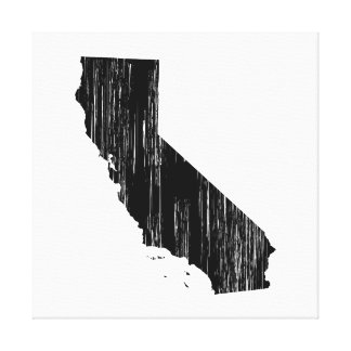 Distressed California State Outline Canvas Print