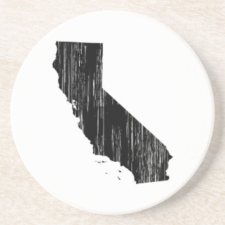 Distressed California State Outline Beverage Coaster
