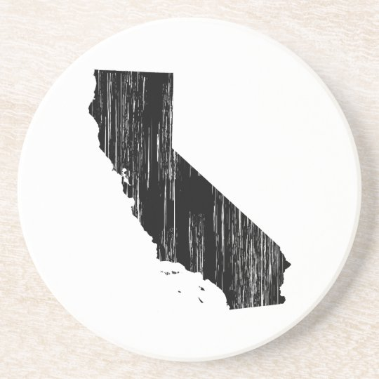Distressed California State Outline Drink Coaster