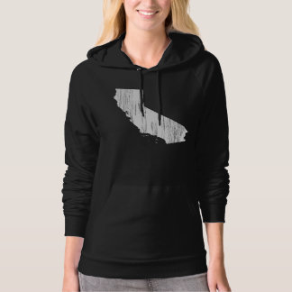 Distressed California State Outline Hoodie