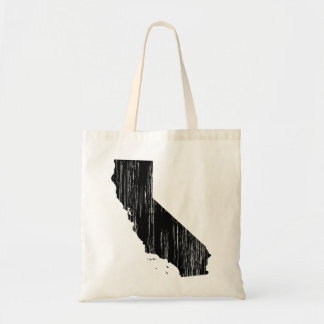 Distressed California State Outline Tote Bag