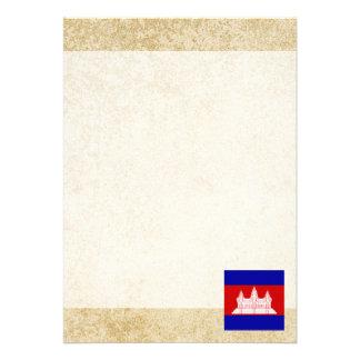 "Distressed Cambodia Flag 5"" X 7"" Invitation Card"