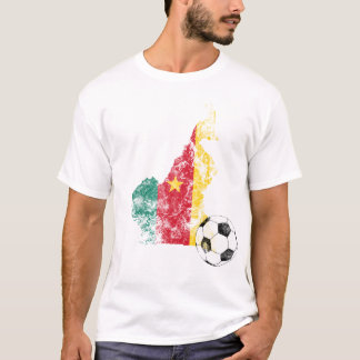 Distressed Cameroon Soccer T-Shirt