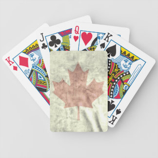 Distressed CANADA Flag.png Bicycle Playing Cards