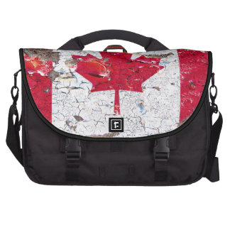 Distressed Canadian Flag 01 Laptop Computer Bag
