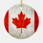 Distressed Canadian Flag Ornaments