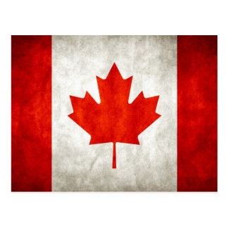 Distressed Canadian Flag Postcard