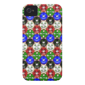 Distressed Casino Chips iPhone 4 Case