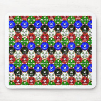Distressed Casino Chips Mouse Pad