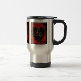 Distressed Celtic Heart on Red Mug