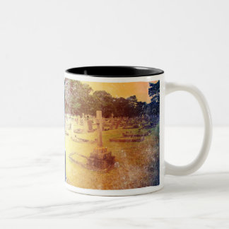 Distressed Cemetery Mug