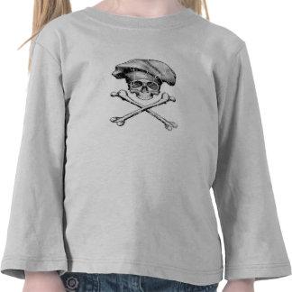Distressed Chef Skull Tshirt
