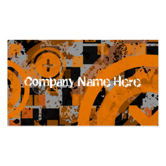 distressed chex business card