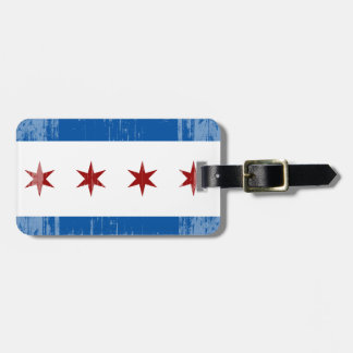 DISTRESSED CHICAGO FLAG .png Travel Bag Tags