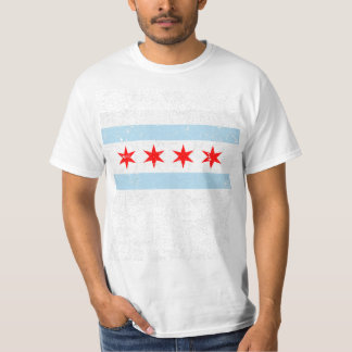 Distressed Chicago Flag T-Shirt