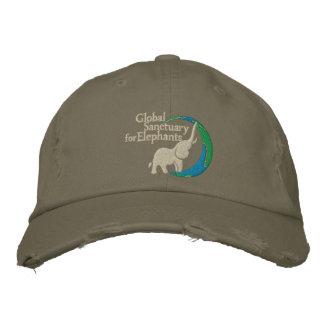Distressed China adjustable baseball cap in light