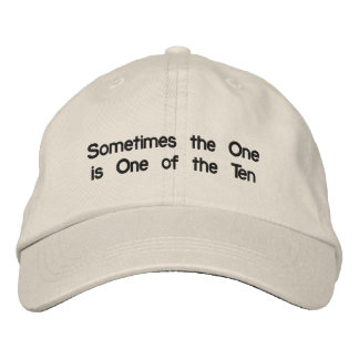Distressed Chino hat with life message