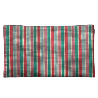 Distressed Circus Stripes Cosmetics Bags