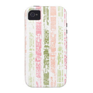 Distressed Clarinet Vibe iPhone 4 Cases