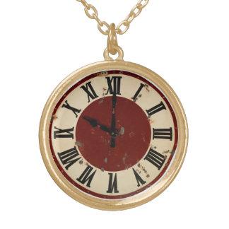 Distressed Clock Vintage Costume Jewelry Charm