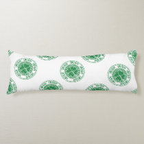 distressed clover irish stamp seal body pillow