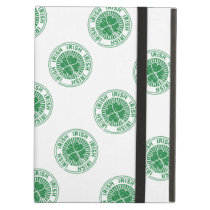 distressed clover irish stamp seal iPad air case