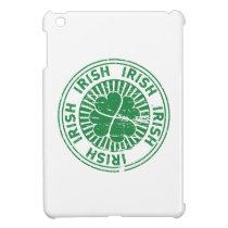 distressed clover irish stamp seal iPad mini cover