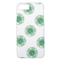 distressed clover irish stamp seal iPhone 7 case
