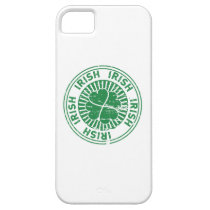 distressed clover irish stamp seal iPhone SE/5/5s case