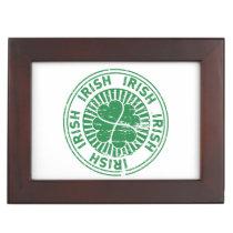 distressed clover irish stamp seal keepsake box