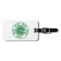 distressed clover irish stamp seal luggage tag