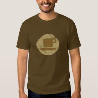 Distressed Coffee Cup Tee