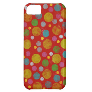 distressed color polka dots iPhone 5C cover