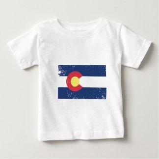 Distressed Colorado Flag Baby T-Shirt