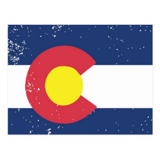Distressed Colorado Flag Postcard