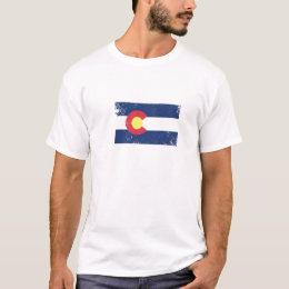 Distressed Colorado Flag T-Shirt