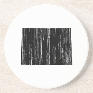 Distressed Colorado State Outline Drink Coaster