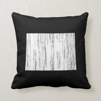 Distressed Colorado State Outline Pillows