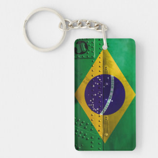 Distressed Country Flags   Brazil Keychain