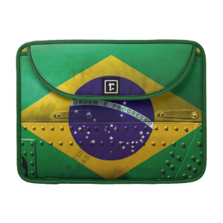 Distressed Country Flags | Brazil Sleeve For MacBooks