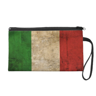 Distressed Country Flags   Italy Wristlet Purse