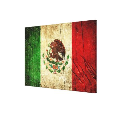 Aztec Themed Distressed Country Flags | Mexico Canvas Print