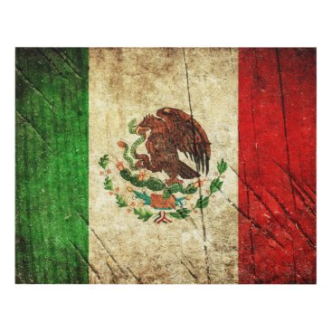 Aztec Themed Distressed Country Flags | Mexico Panel Wall Art
