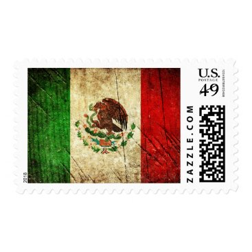 Aztec Themed Distressed Country Flags | Mexico Postage