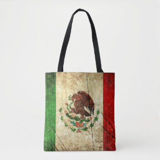 Distressed Country Flags | Mexico Tote Bag