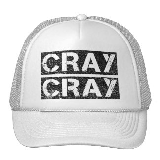 Distressed CRAY CRAY Hats
