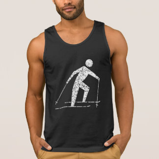 Distressed Cross Country Skiing Tank Top