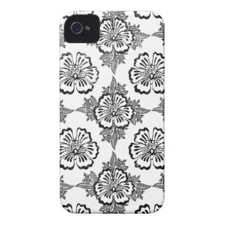 Distressed damask floral hibiscus flower pattern Case-Mate iPhone 4 case